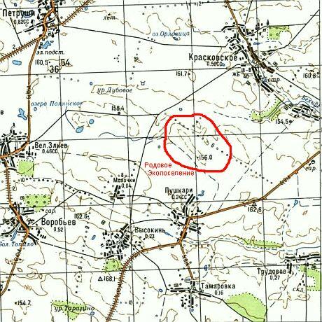 Карта первого на черниговщине